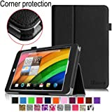 [CORNER PROTECTION] Fintie Acer Iconia A1-830 Case - Premium Vegan Leather Slim Fit Stand Cover for Acer Iconia A1-830 7.9 -Inch Tablet - Black
