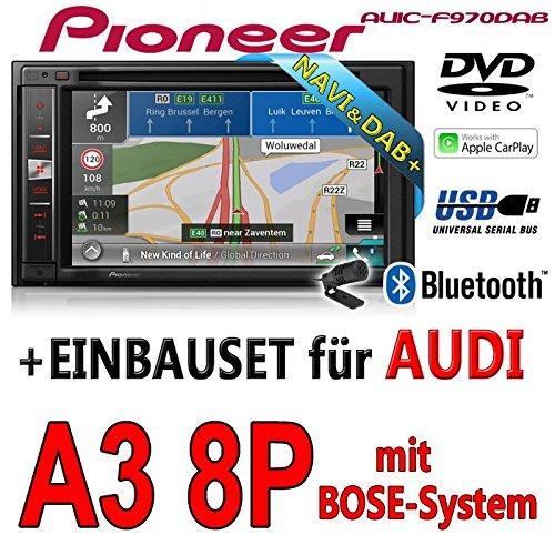 Audi a3 8P-pioneer aVIC-f970DAB-multimedia 2DIN navigation dAB autoradio avec antenne de montage
