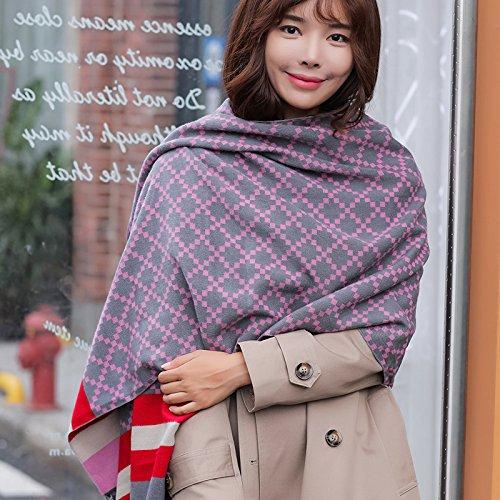 Autunno Inverno Womens Fashion eleganza Super Morbida sciarpa scialle Europa Street Style(cotone/lana/filo/seta)W-851