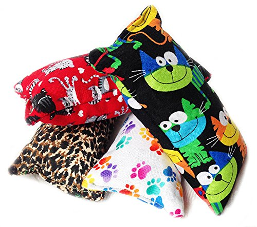 Image Handmade in the USA Catnip Pillows Toys (100% Filled) 5 pillows (Mix)