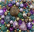 Approx 400 x Eastern Promise Purple Turquoise Jewellery Making Starter Beads Mix Set