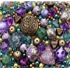 Approx 285 x Eastern Promise Purple Turquoise Jewellery Making Starter Beads Mix Set