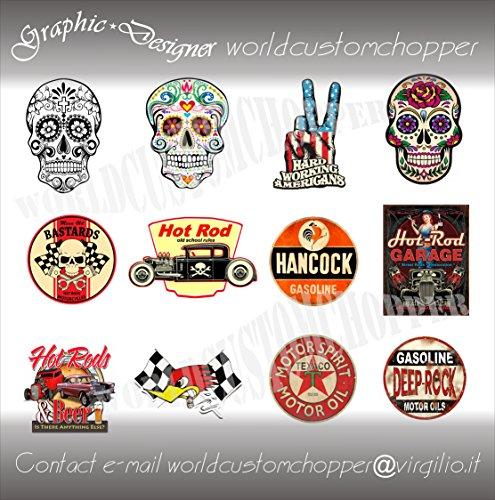 sticker decal stickers vintage casque moto custom car auto tuning. Black Bedroom Furniture Sets. Home Design Ideas