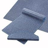 Teppich Läufer blau