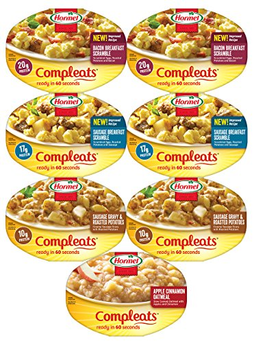 Hormel Compleats GOOD MORNINGS BREAKFAST VARIETY Meals, 7.5 Ounce Tray (Pack of 7) (Packaged Meals compare prices)