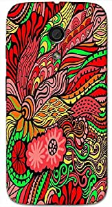 Timpax protective Armor Hard Bumper Back Case Cover. Multicolor printed on 3 Dimensional case with latest & finest graphic design art. Compatible with Motorola Moto -G-2 (2nd Gen )Design No : TDZ-21718