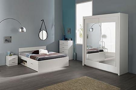 Schlafzimmer Schlafzimmerset weiß 4-teilig Infena