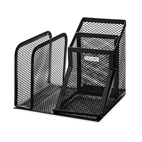 wire-mesh-desk-organizer-with-pencil-storage-5-3-4-x-5-1-8-x-5-1-8-black-sold-as-1-each