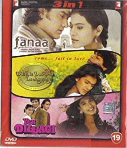 Fanaa / Dilwale Dulhania Le Jayenge / Yeh Dillagi(3 in 1 - 100% Orginal DVD Without Subtittle)