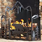 Black Bear Fireplace Screen from Black Forest Decor