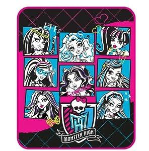 """Monster High Micro Raschel Throw 46"""" x 60"""""""