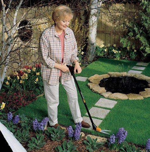 Fiskars 36 inch long handle swivel grass shears 92107935j for Long handled garden shears
