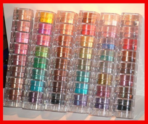Micabella Natural Mineral Makeup 6x8 Stacks Shimmers 48 Pc