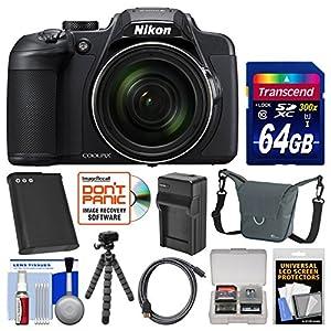 Nikon Coolpix B700 4K Wi-Fi Digital Camera with 64GB Card + Case + Battery & Charger + Flex Tripod + Kit