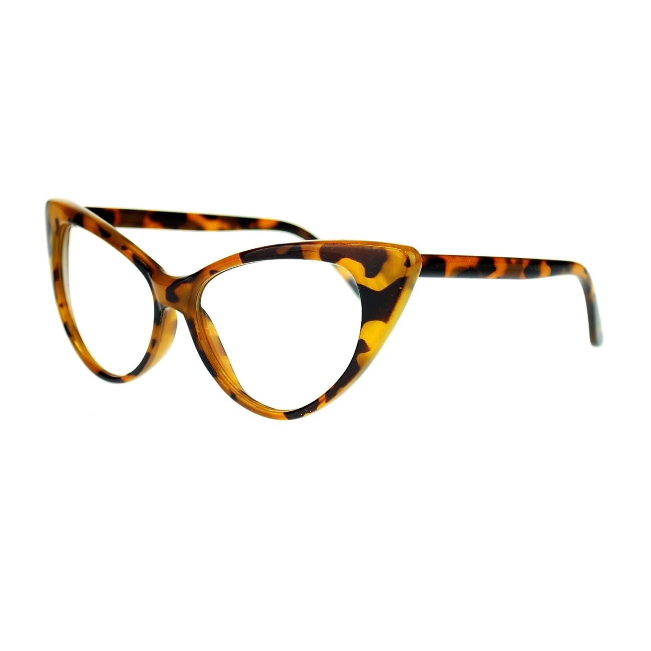 Womens Goth Mod Chic Classic Retro Cat Eye Optical Glasses 2