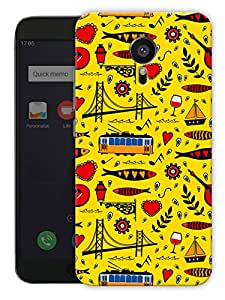 "Humor Gang Abstract City Life Pattern - Yellow Printed Designer Mobile Back Cover For ""Meizu Mx5"" (3D, Matte, Premium Quality Snap On Case)"