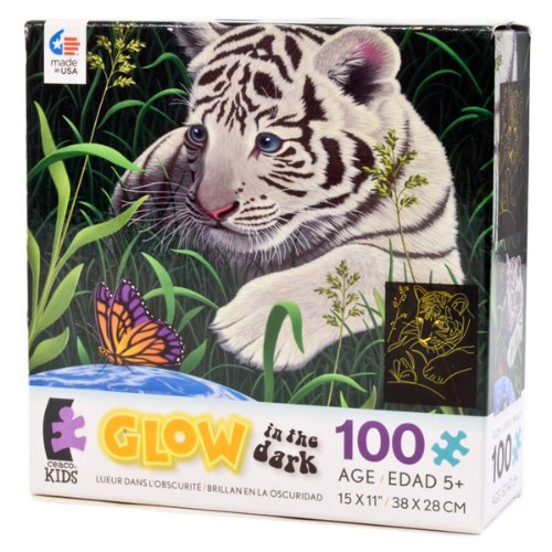 Ceaco Inc 01619 100 Piece Glow In The Dark Puzzle Assorted Designs