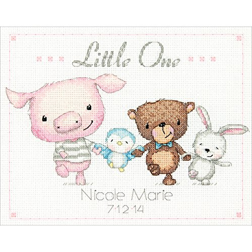 Dimensions 14 Count Little One Birth Record Counted Cross Stitch Kit, 10 by 8-Inch
