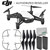 Ryze Tello Quadcopter Drone with HD camera and VR - powered by DJI technology and Intel Processor Essentials Bundle (Color: Base, Tamaño: B) Essential)