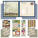 Scrapbook Customs Themed Paper and Stickers Scrapbook Kit, Mississippi Vintage