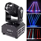 U`King Moving Head Stage Light RGBW (4 in 1) DMX512 Rotating Stage Effect Lamp for DJ Disco Club Party Dance Wedding Bar Theater Pub Christmas Lights (SIZE A) (Color: SIZE A)