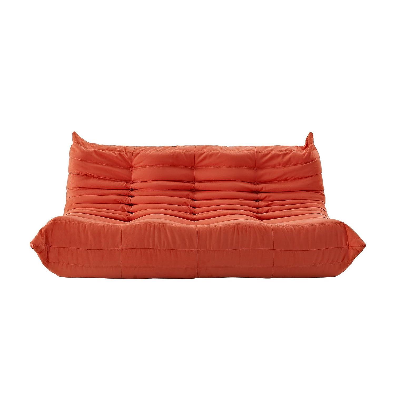LexMod Waverunner Modular Sectional: Sofa in Orange