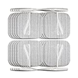 "PurePulse TENS Electronic Pulse Massager Pads - 5-Pack of Premium, Self-Adhesive 2"" x 2"" Replacement Electrode Pads Compatible with Pure Enrichment, Santamedical, truMedic, VitaPulse Rx, and Magicfly Handheld TENS Units"