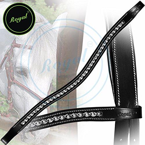 Royal Designer Spiral White Pearl U-Shaped Crystal Brow Band.