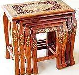 Wooden stool set of 4