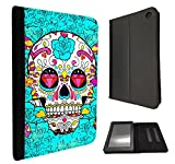 Full Face Sugar Skull Skulls Multi tattoo Diamond eye Design Amazon Kindle Fire HD 7
