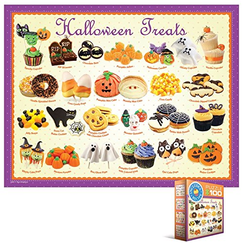 EuroGraphics Halloween Treats Mini Puzzle (100-Piece)