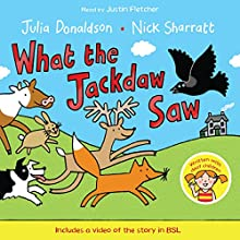 What the Jackdaw Saw (       UNABRIDGED) by Julia Donaldson Narrated by Justin Fletcher