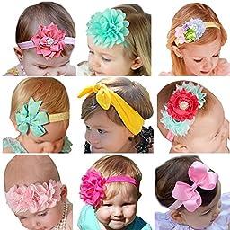 ROEWELL® Baby\'s Headbands Girl\'s Hair Bows Newborn headband Hair Flower