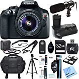 Canon EOS Rebel T6 Digital SLR Camera w EF-S 18-55mm Lens Deluxe Bundle includes Camera - Lens - Shotgun Microphone - Bag - Tripod - Battery - Filter Kit - 32GB Memory Card - Beach Camera Cloth and More