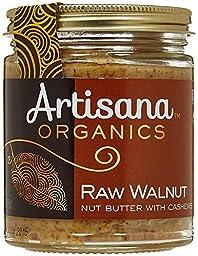 Artisana 100% Organic Raw Walnut Butter with Cashews-8 oz