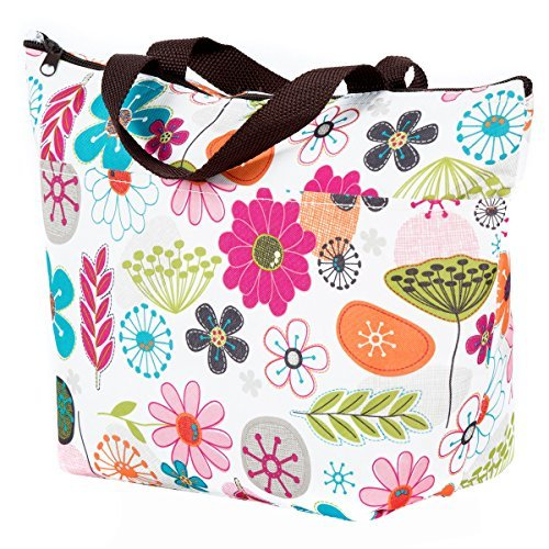 globalhomeqi Picnic Insulated Fashion Lunch Cooler Tote Bag Travel Zipper Organizer Box Tote Bag Lunch Tote Freezable Cooler Lunch Bag Lunch Box Cooler Bag 12.59''x4.72''x11.41'' (Lunch Tote For Women Insulated compare prices)