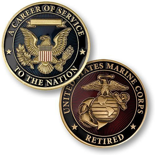 Career of Service Marines Retired Challenge Coin