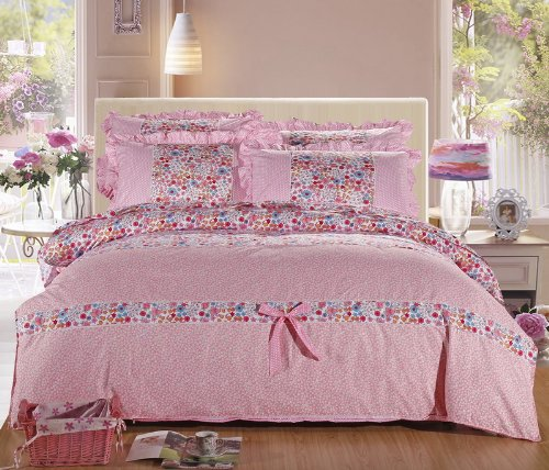Modern Garden Pink Girls Bedding Princess Bedding