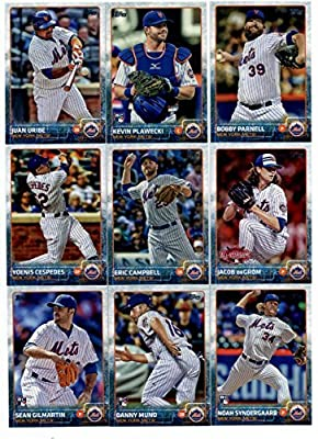 2015 Topps Baseball Cards New York Mets Complete Master Team Set (Series 1 & 2 + Update - 42 Cards) With Noah Syngergaard Rookie, Steven Matz Rookie, Curtis Granderson, Team Card, David Wright, Jacob deGrom, Daisuke Matsuzaka, Daniel Murphy in Protective