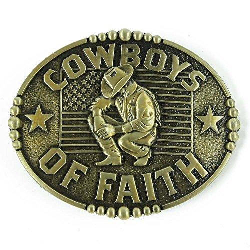 Senmi Cowboys of Faith Belt Buckle Bronze-with Senmi Box Wrapped