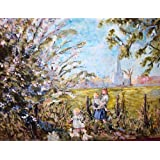 Frame Or Mount Your Own Picture Print Of An Original Painting Of Children, Blossom And Ducks At Heydour By Ann Kilroy,by Myslide