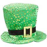Green Top Hat w/Gold Shamrock