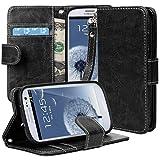 Galaxy S3 Case Cover, S3 Case Cover, E LV Samsung Galaxy S3 Case Cover - PU Leather Flip Folio Wallet Case Cover...