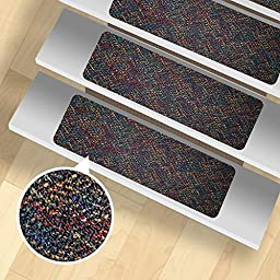 13 Stair Treads - Indoor and Outdoor Use - Peel and Stick - Pattern 7
