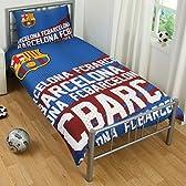 海外サッカー 公式 オフィシャル / シングルサイズ 掛布団カバー・枕カバー セット 全8種 (FC Barcelona / バルセロナ) [並行輸入品]