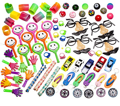 Party-Favor-Toy-Prizes-Assortment-Of-101-Fun-toys-Items-Great-Pack-for-School-Classroom-Rewards-box-Carnivals-Party-Favors-Bag-Grab-Bag-And-Kids-Events-Made-And-Sold-EXCLUSIVELY-By-SMART-NOVELTY