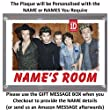 Personalised XL Size One Direction Bedroom Door Plaque - Plaque Size 16.5cm by 11.5cm - An Ideal Gift