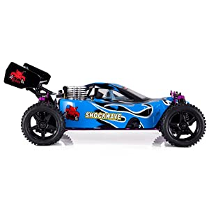 Redcat Racing Shockwave Nitro Buggy, Blue, 1/10 Scale