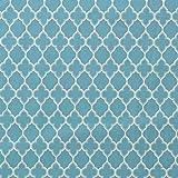 【ターコイズブルー×オフホワイト】YUWA シーチング生地 モロッカン Moroccan 50cm単位販売