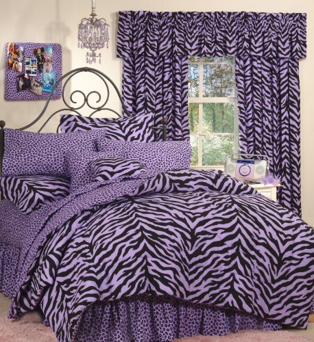 Purple Zebra Bedding front-213310